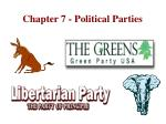 Chapter 7 - Political Parties