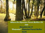 Where Do Riparian Forest Buffers Fit into Directive 06-1?