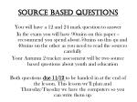 Source based questions