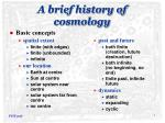 A brief history of cosmology
