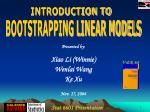 BOOTSTRAPPING LINEAR MODELS