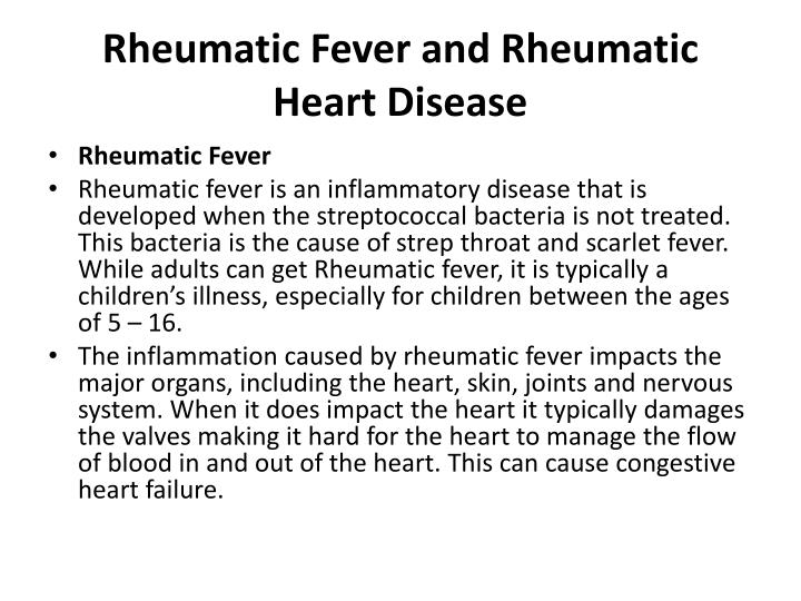 rheumatic fever and rheumatic heart disease n.