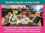 The Most Popular Korean Foods