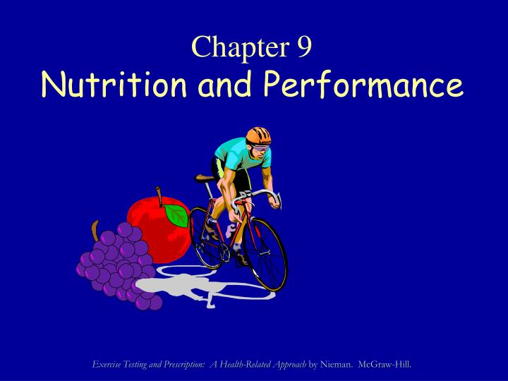chapter 9 nutrition and performance n.