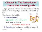 Chapter 3: The formation of contract for sale of goods