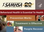 ADVANCING BEHAVIORAL HEALTH IN A CHANGING HEALTH CARE ENVIRONMENT