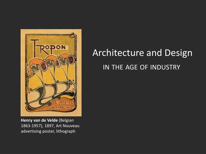 architecture and design n.