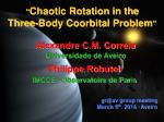 """ Chaotic Rotation in the Three-Body Coorbital Problem """