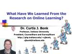 What Have We Learned From the Research on Online Learning?