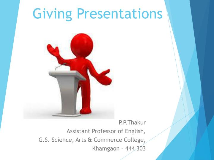 giving presentations n.