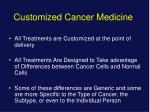 Customized Cancer Medicine