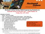 Rockwell Collins Invites MSOE Engineering Students to: