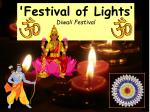 'Festival of Lights' Diwali Festival