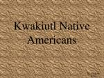 Kwakiutl Native Americans