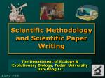 Scientific Methodology and Scientific Paper Writing