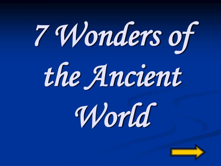 7 wonders of the ancient world n.
