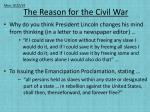 The Reason for the Civil War