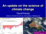An update on the science of climate change