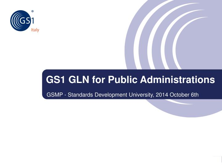 gs1 gln for public administrations n.