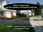 PAHs in House Dust and their Relation to Pavement Sealcoat