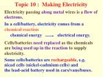 Topic 10 :  Making Electricity