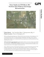 Noise Studies for NYS Route 110/ Northern State Parkway Interchange Reconstruction