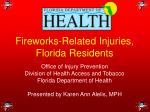 Fireworks-Related Injuries, Florida Residents