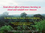 Semi-direct effect of biomass burning on cloud and rainfall over Amazon