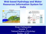 Web based Hydrology and Water Resources Information System for India
