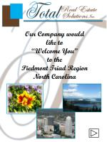 "Our Company would  like to  ""Welcome You""  to the  Piedmont Triad Region North Carolina"