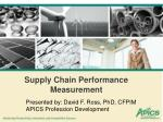Supply Chain Performance Measurement