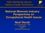 2003 Qld Mining Industry Safety & Health Conference
