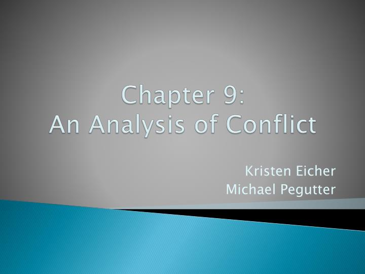chapter 9 an analysis of conflict n.