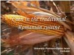 Corn in the traditional Romanian cuisine