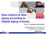 New Culture & New Aging according to Digital Aging in Korea