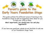 Parent's guide to the Early Years Foundation Stage