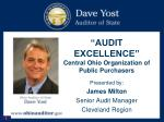 """AUDIT EXCELLENCE""  Central Ohio Organization of Public Purchasers"