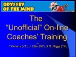 Online Coaches Training