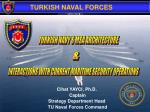 Cihat YAYCI, Ph.D.  Captain Strategy Department Head  TU Naval Forces Command