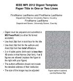 IEEE MFI 2012 Digest Template Paper Title in One or Two Lines