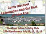 Come Discover Leamington and the Rest of Lake Erie