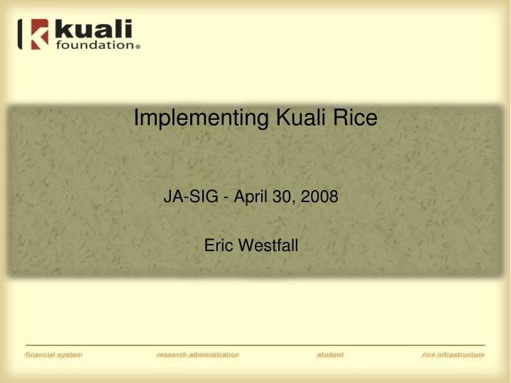 implementing kuali rice n.