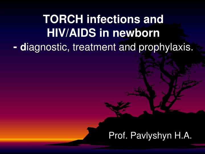 torch infections and hiv aids in newborn d iagnostic treatment and prophylaxis n.