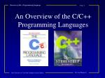 Overview of the c Programming Language