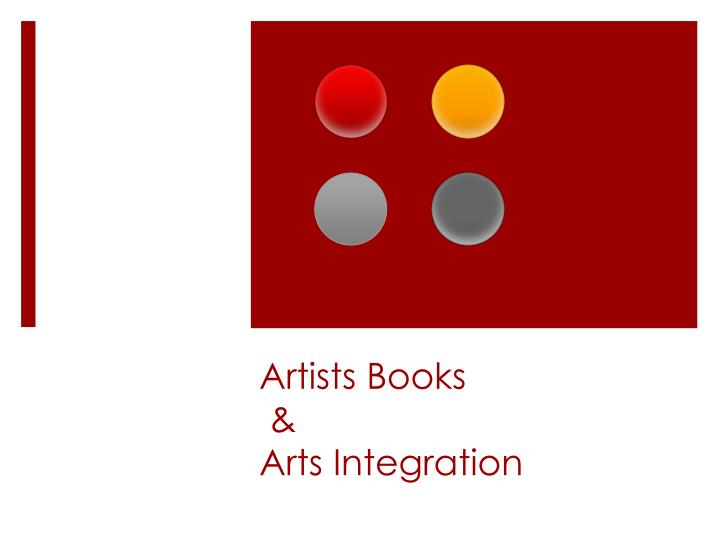 artists books arts integration n.