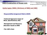 WBS-Construction of House cont.