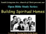 South Livingston Ave. church of Christ presents our Open Bible Study Series: