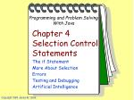 Chapter 4 Selection Control Statements