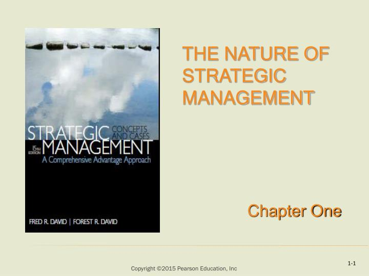 the nature of strategic management n.