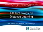 Lift Technology by Distance Learning  J. P. Adams  J. P. Andrew  S. Kaczmarczyk